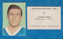 TSV Munchen 1860 Alfred Heiss West Germany
